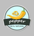 chilli pepper logo for food label or sticker vector image