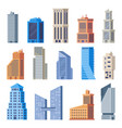 city office buildings glass building modern vector image