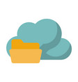 cloud storage related icon image vector image vector image