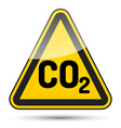 CO2 danger triangle vector image vector image