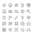 collection of web design and development i vector image vector image