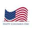 columbus day discoverer of america holiday banner vector image vector image
