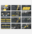 design black slides for presentation vector image vector image