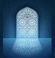doors mosque with arabic pattern vector image
