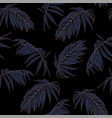 fashion style jungle pattern seamless background vector image vector image