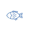 fish line icon concept fish flat symbol vector image vector image
