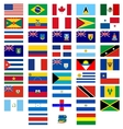 Flags of the countries of America vector image vector image