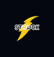 flash thunder bolt logo vector image