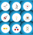 flat icon science set of electrical engine vector image vector image