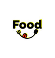 Food logo designs with spoon and fork