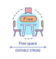 free space concept icon afe restaurant table vector image vector image