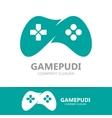 Game joystick or device controller logo vector image vector image