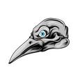 head bird with long beak with grey vector image vector image