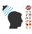 head shower icon with lovely bonus vector image vector image