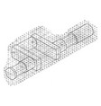 isometric sketch applied to its sides vintage vector image vector image
