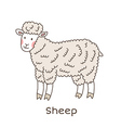 Lineart sheep vector image vector image