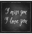 love chalk lettering vector image