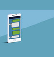 mock up realistic white mobile and flat design vector image