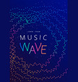 music wave poster design dotted gradient waves vector image vector image