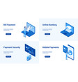 online banking blue templates vector image