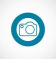 photo camera icon bold blue circle border vector image vector image