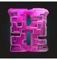 pink plastic figure h vector image
