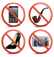 Prohibitory Sign Icons vector image