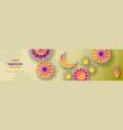 ramadan kareem concept horizontal banner with vector image vector image