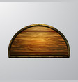 realistic of wooden signboard vector image vector image
