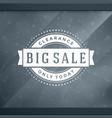 sale sticker label design on window background vector image