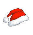 santa hat isolated on white background vector image