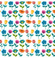 seamless pattern painting flowers decoration vector image vector image
