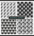 seamless patterns with halftone dots 3 vector image vector image