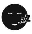 sleep smile icon simple vector image