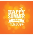 summer holiday design background vector image vector image