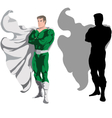 superhero and silhouette vector image vector image