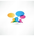 Talk concept speech bubbles vector | Price: 1 Credit (USD $1)