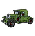 the vintage green coupe vector image vector image