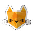 tiger low poly style vector image vector image