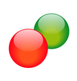two balls vector image vector image