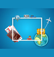 vacation concept with accessories template for a vector image vector image
