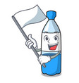 with flag water bottle mascot cartoon vector image vector image