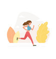 young athletic woman running vector image