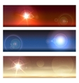 Cosmic Landscapes Set vector image