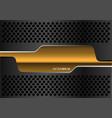 abstract gold banner dark gray metal circle mesh vector image vector image