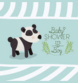 baby shower card with cute bear panda vector image