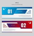 banner web template layout abstract geometric red vector image
