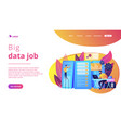 big data engineering concept landing page vector image vector image