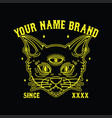 black cat death t-shirt design vector image vector image