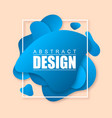 blue modern abstract banner vector image